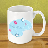 Gleeful Coffee Mug - Blue Meadow