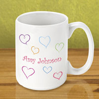 Gleeful Coffee Mug - Happy Hearts (GC790)
