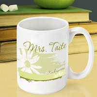 Teacher Coffee Mug - Delicate Daisy (GC791)