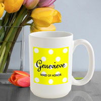 Polka Dot Coffee Mug - Bananas (GC809)