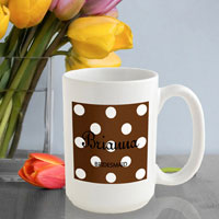 Polka Dot Coffee Mug - Cocoa (GC809)