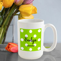 Polka Dot Coffee Mug - Green Apple (GC809)