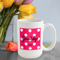 Polka Dot Coffee Mug - Tutti Frutti (GC809)