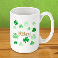 Irish Coffee Mugs - Raining Clover (GC862)