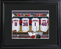 MLB Clubhouse Print w/Wood Frame - Angels