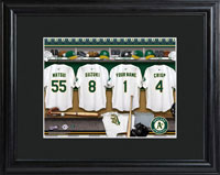 MLB Clubhouse Print w/Wood Frame - Athletics
