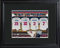 MLB Clubhouse Print w/Wood Frame - Braves