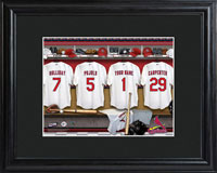 MLB Clubhouse Print w/Wood Frame - Cardinals