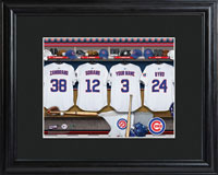MLB Clubhouse Print w/Wood Frame - Cubs