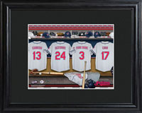 MLB Clubhouse Print w/Wood Frame - Indians