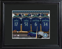 MLB Clubhouse Print w/Wood Frame - Mariners
