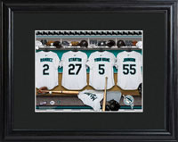 MLB Clubhouse Print w/Wood Frame - Marlins