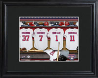MLB Clubhouse Print w/Wood Frame - Nationals