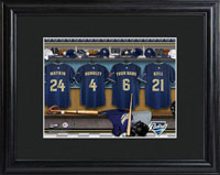 MLB Clubhouse Print w/Wood Frame - Padres