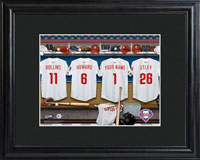 MLB Clubhouse Print w/Wood Frame - Phillies