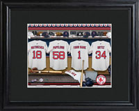 MLB Clubhouse Print w/Wood Frame - Red Sox