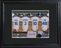 MLB Clubhouse Print w/Wood Frame - Royals
