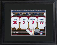 MLB Clubhouse Print w/Wood Frame - Twins