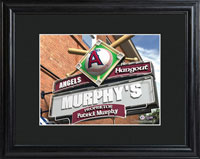 MLB Pub Print w/Wood Frame - Angels