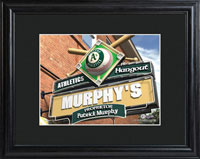 MLB Pub Print w/Wood Frame - Athletics