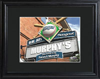 MLB Pub Print w/Wood Frame - Blue Jays