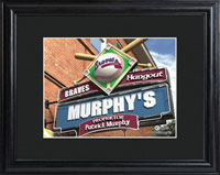 MLB Pub Print w/Wood Frame - Braves