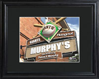 MLB Pub Print w/Wood Frame - Giants
