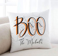 Personalized Halloween Throw Pillows - Boo