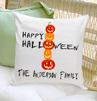 Personalized Halloween Throw Pillows - Happy Halloween
