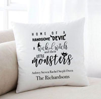 Personalized Halloween Throw Pillows - Monsters