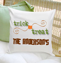 Personalized Halloween Throw Pillows - Trick Or Treat