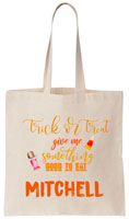 Personalized Halloween Tote Bags - Good To Eat