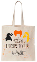 Personalized Halloween Tote Bags - Hocus Pocus