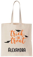 Personalized Halloween Tote Bags - Trick Or Treat