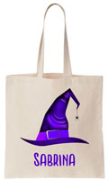 Personalized Halloween Tote Bags - Witch Hat