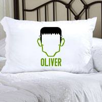Personalized Halloween Pillowcases - Frankenstein