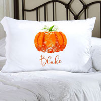 Personalized Halloween Pillowcases - Pumpkin