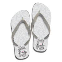 a883ca793 Damask Bride - White. Flip Flops. by Paper So Pretty. Available in Many  Adult Sizes  26.00 per pair