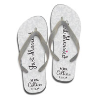 584422f4f Damask Just Married - White. Flip Flops. by Paper So Pretty. Available in  Many Adult Sizes  26.00 per pair