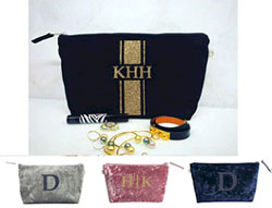 Luxe Bags by Quilted Koala (Personalized Velvet Clutch)