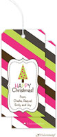Little Lamb Design - Hanging Gift Tags (Striped - Bright)