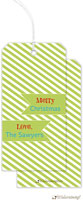 Little Lamb Design - Hanging Gift Tags (Lime Green striped)
