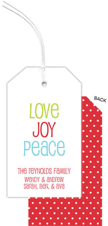 PicMe Prints - Hanging Gift Tags (Love Joy Peace)