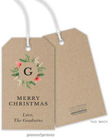PicMe Prints - Hanging Gift Tags (Berries & Blooms Wreath Kraft)