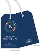 PicMe Prints - Hanging Gift Tags (Berries & Blooms Wreath Navy)
