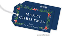PicMe Prints - Hanging Gift Tags (Berries & Blooms Navy)