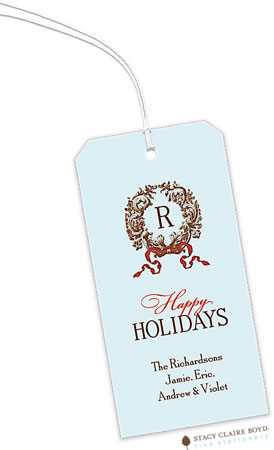 Stacy Claire Boyd - Hanging Gift Tags (Enchanted Wreath - Blue)