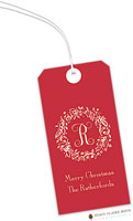 Stacy Claire Boyd - Hanging Gift Tags (Elegant Holiday Wreath on Red)