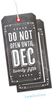 Tumbalina Hanging Gift Tags - Do Not Open