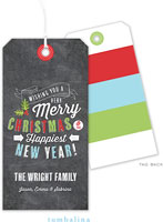Tumbalina Hanging Gift Tags - Festive Stacked Sentiment